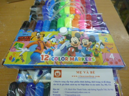Bút dạ Disney 12 mầu Nhật Bản