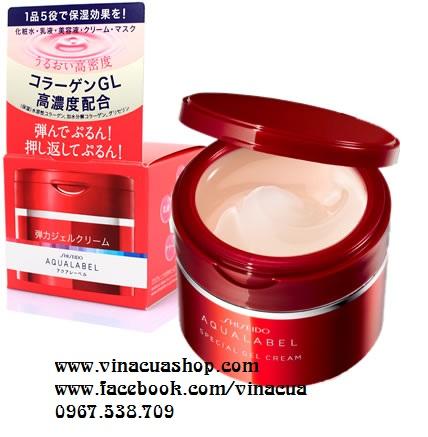 Kem dưỡng da Shiseido Aqualabel 5 trong 1 đỏ 90g