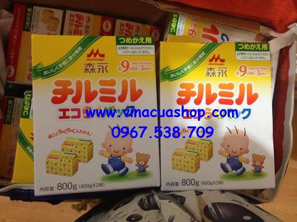 Sữa Morinaga 9 hộp giấy 800g  (400g x 2 hộp)