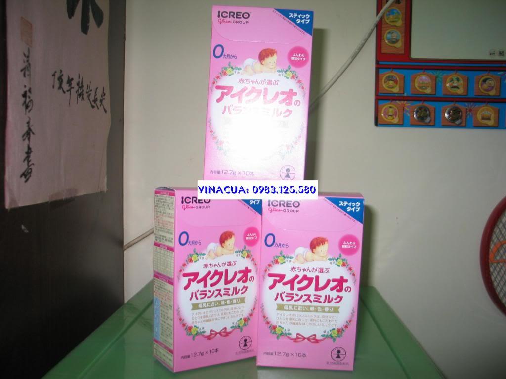 Sữa Nhật Glico 0 (ICREO) dạng thanh (gói).